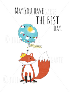 May You Have the Best Day Birthday Note Card
