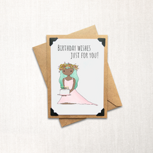 Load image into Gallery viewer, Birthday Wishes Just for You Note Card