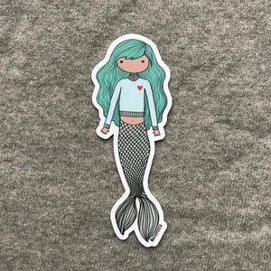 Blue Mermaid Sticker