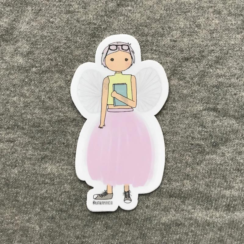 Book Fairy Sticker