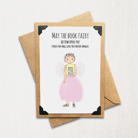 The Book Fairy Note Card