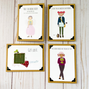 Bookish note card bundle