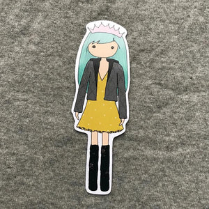 Casual Fuss Girl Bookmark