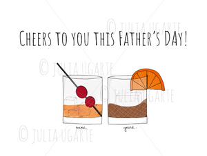 Cheers to You This Father's Day Father's Day Card