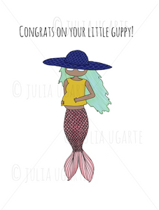 Congrats on Your Little Guppy Note Card