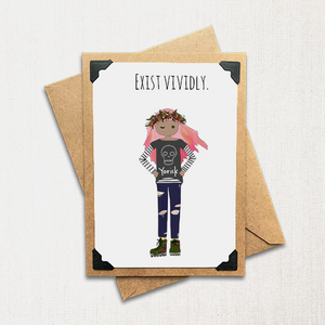 Exist Vividly Note Card
