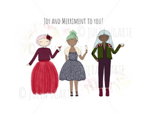 Load image into Gallery viewer, Joy and Merriment to You Holiday Card