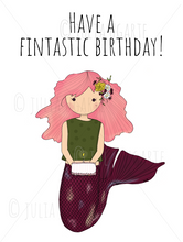 Load image into Gallery viewer, Have a Fintastic Birthday Note Card