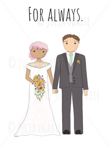 For Always Wedding Note Card
