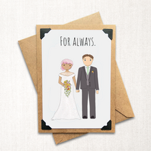 Load image into Gallery viewer, For Always Wedding Note Card