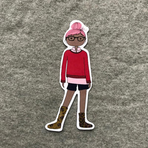 Freelance Life Girl Bookmark