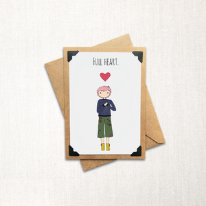 Full Heart Note Card