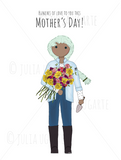 Bunches of love to you this Mother's Day Note Card