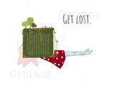 Get Lost Note Card