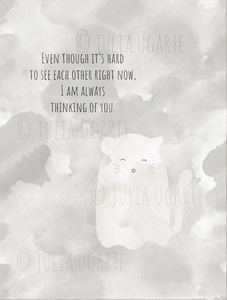 Ghost Kitty Thinking of You Note Card