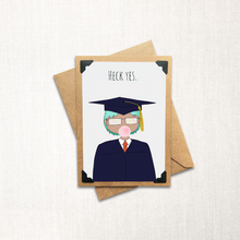 Load image into Gallery viewer, Grad Card Short Hair Note Card