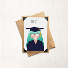 Load image into Gallery viewer, Grad Card Long Hair Note Card