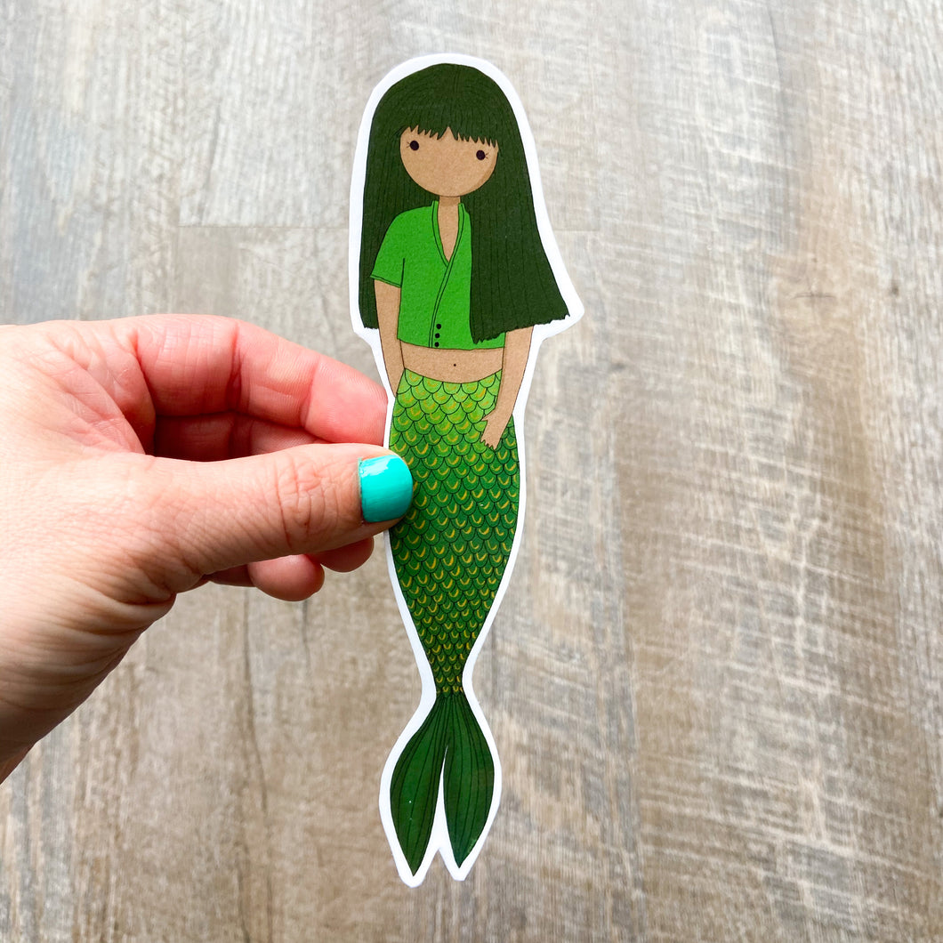 Green Mermaid Bookmark