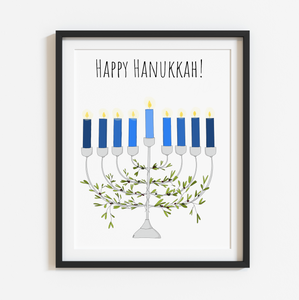 Happy Hanukkah! 8x10 Print