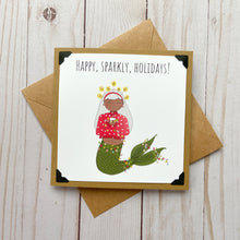 Load image into Gallery viewer, Happy, Sparkly, Holidays! Bright Holiday Card