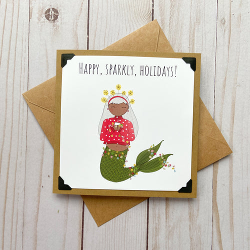 Happy, Sparkly, Holidays! Bright Holiday Card