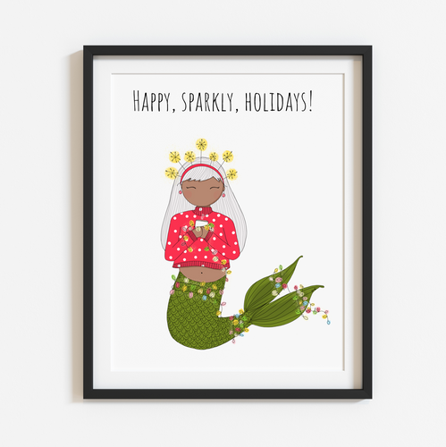 Happy, Sparkly, Holidays! Spirited Bright 8x10 Print