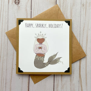 Happy, Sparkly, Holidays! Neutral Holiday Card