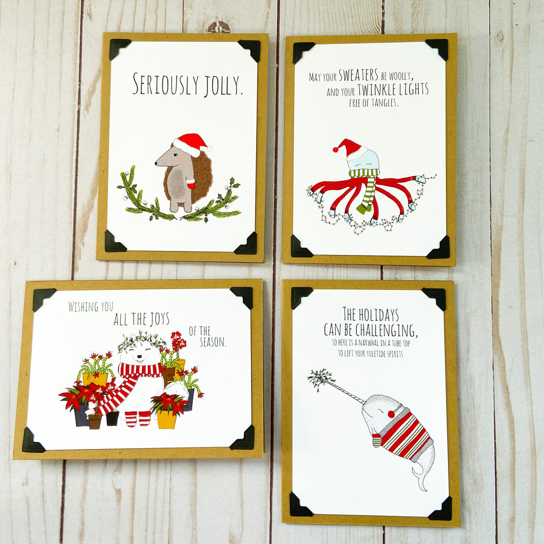 Puckish Holiday Creatures note card bundle