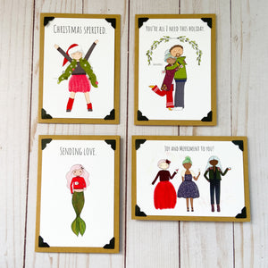 Puckish Holiday Peeps note card bundle