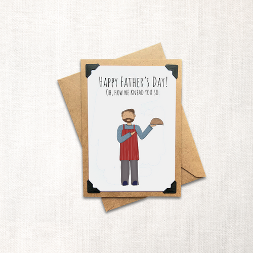 Oh How We Knead You So Father's Day Note Card