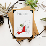 Hygge it Out Kitty Holiday Card
