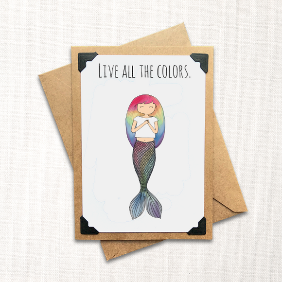 Live All the Colors Note Card