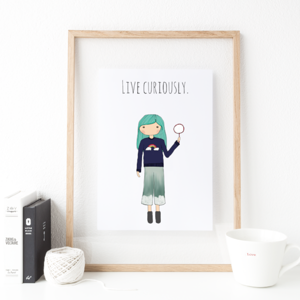 Live Curiously 8x10 Print