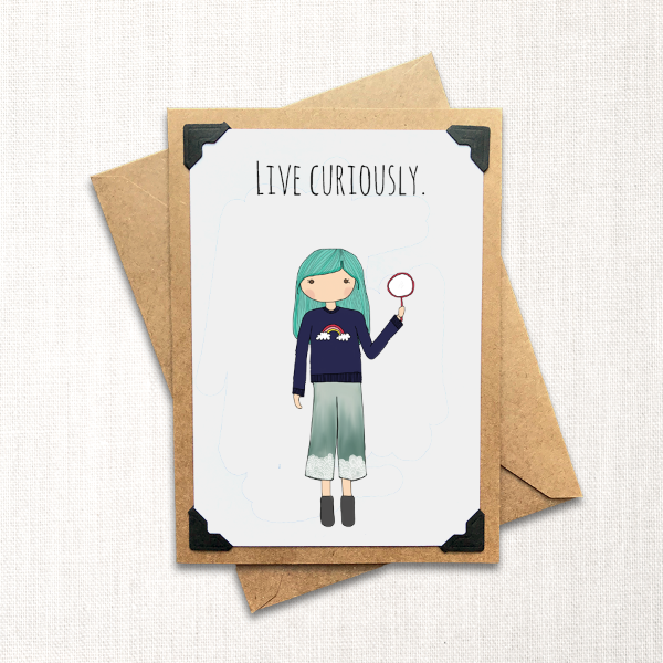 Live Curiously Note Card