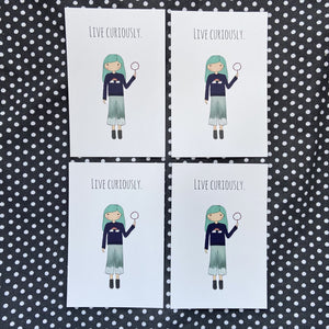 Live Curiously 4 Postcard Set