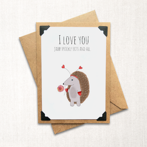 Jabby Prickly Bits and All Love Card