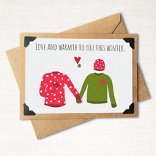 Load image into Gallery viewer, Love and Warmth to You This Winter Bright Holiday Card
