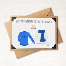 Load image into Gallery viewer, Love and Warmth to You This Winter Hanukkah Holiday Card