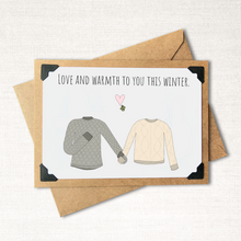 Load image into Gallery viewer, Love and Warmth to You This Winter Neutral Holiday Card