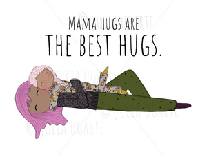 Mama Hugs are the Best Hugs Note Card