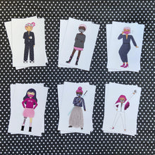 Load image into Gallery viewer, Masked Puckish Girls Postcard Set