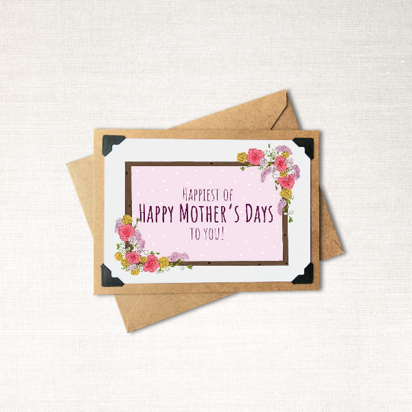 Happiest of Happy Mother's Days to You Note Card