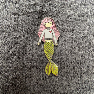 Puckish Mermaid Enamel Pin