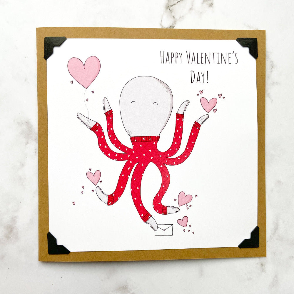 Happy Valentines Day! Octopus Note Card