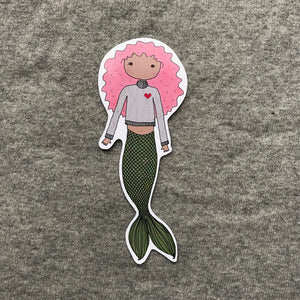 Pink Mermaid Bookmark