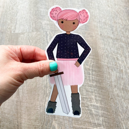 Pink Tutu and Sword Bookmark