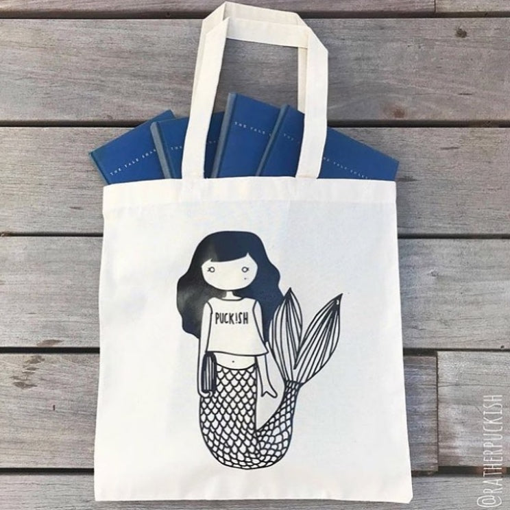Puckish Mermaid Canvas Bag