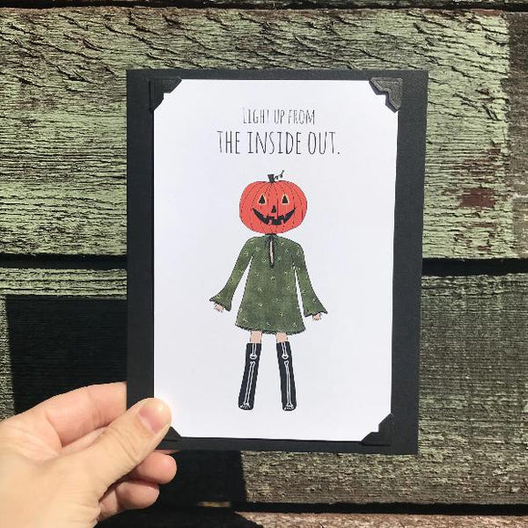 Halloween card! Light Up From the Inside Out