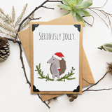 Seriously Jolly Holiday Card