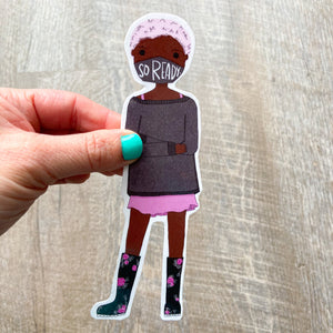 So Ready Mask Girl Girl Bookmark